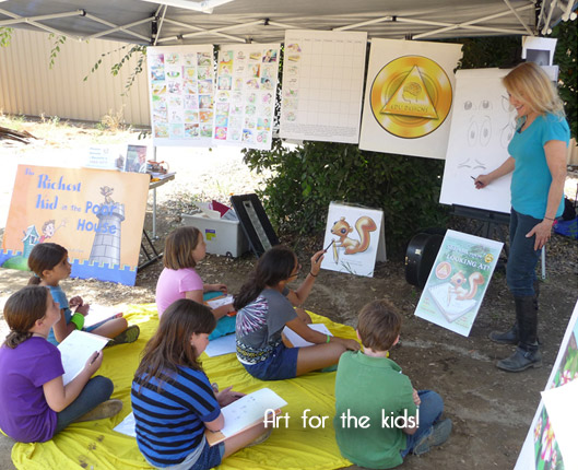 Ruth Elliott gives Tips on Drawing to the Kids!